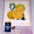 1954 Morton Salt Grapefruit Art Color Print Ad