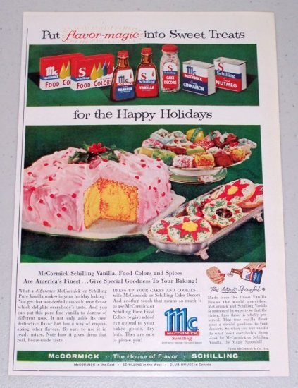1960 McCormick Schilling Spices Extracts Color Print Ad - Flavor Magic