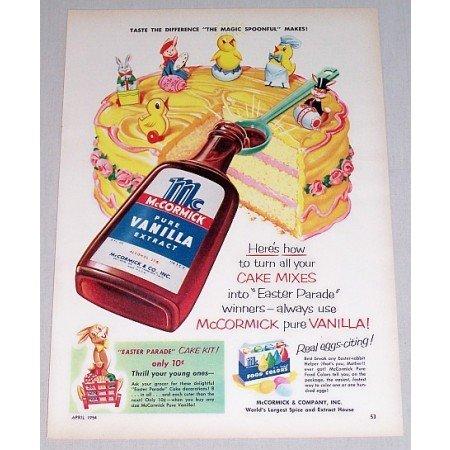 1954 McCormick Vanilla Extract Color Art Print Ad - Magic Spoonful