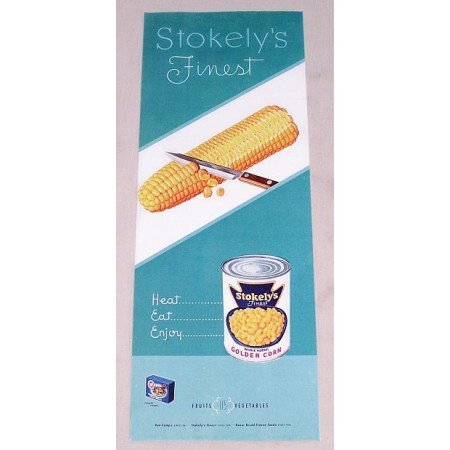 1949 Stokely's Golden Corn Color Print Ad