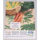 1954 Birds Eye Mixed Garden Vegetables Carrots Corn Beans Peas Color Ad