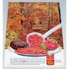 1963 Van Camp's Pork and Beans Color Print Ad - Autumn Day