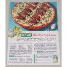 1954 Veg-All Vegetables Hamburger Bake Recipe Color Print Ad