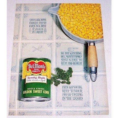 1962 Del Monte Golden Sweet Corn Color Print Ad