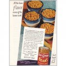 1945 Van Camp's Beans Color Print Ad - All The Home Flavor
