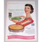 1952 Stokelys Honey Pod Peas Tenderoni Macaroni Color Print Ad