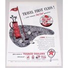 1946 Texaco Sky Chief Gasoline Golf Art Vintage Color Print Ad - Travel First Class