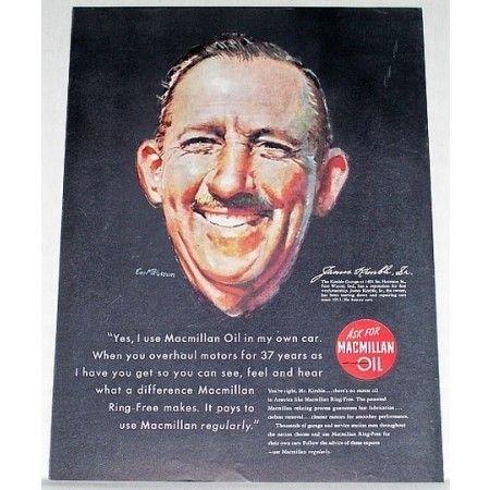 1948 Macmillan Oil Earl Blossom Art Vintage Color Print Ad