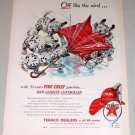 1954 Texaco Gas Oil Dalmatians Pups Dogs Animal Art Vintage Color Print Ad