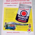 1955 Texaco Dealers Havoline Motor Oil Vintage Color Print Ad