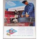 1961 Sunoco Dealer Vintage Color Print Ad - Specialist Extra Mileage
