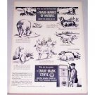 1948 Ethyl Corp. Trade Marks Of Nature Animal Art Vintage Print Ad
