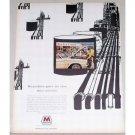 1963 Marathon Gas Oil Vintage Color Print Ad - Puts Size Into Service