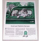 1944 Quaker State Oil Dog Vintage Color Print Art Ad - Good Faithful Servant