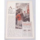 1929 Texaco Gasoline Gravity Pump Vintage Color Print Art Ad