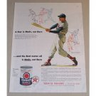 1954 Texaco Havoline Oil Vintage Color Print Ad Baseball Celebrity Ted Williams