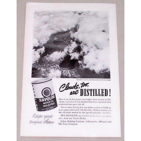 1937 Havoline Motor Oil Lower New York Ariel View Vintage Print Ad