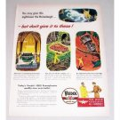 1946 Veedol Motor Oil Vintage Color Print Art Ad - Nightmare Horselaugh
