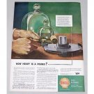 1944 Shell Oil Company Vintage Color Print Art Ad - How Heavy Is A Pound?