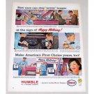 1963 Humble Enco Motor Oil Vintage Color Print Art Ad - Happy Motoring