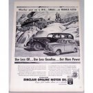1948 Sinclair Opaline Motor Oil Vintage Print Ad - Get More Power