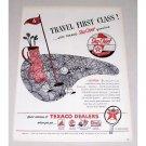 1946 Texaco Sky Chief Gas Oil Golf Art Vintage Color Print Ad