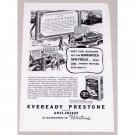 1937 Eveready Prestone Anti-Freeze Vintage Print Ad