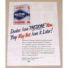 1949 Prestone Anti-Freeze Vintage Color Print Ad