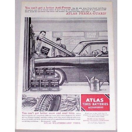 1954 Atlas Perma Guard Anti-Freeze Vintage Print Ad
