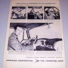 1954 Chrysler Corp. Gearshift Vintage Print Ad Celebrity William Lundigan