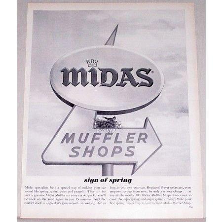 1962 Midas Muffler Shops Vintage Print Ad - Sign Of Spring
