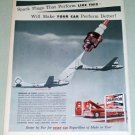 1953 Champion Spark Plugs USAF Inflight Refueling Vintage Color Print Ad