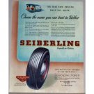 1945 Seiberling Tires Vintage Color Print Ad - Battle Of Rubber