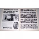 1962 Firestone Tires Indy 500 Winners 2 Page Vintage Print Ad