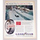 1960 Goodyear Tires Pennsylvania Turnpike Vintage Color Print Ad