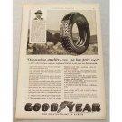 1929 Goodyear Pathfinder Tires Vintage Print Ad