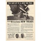 1955 Firestone New Treads Tractor Tires Vintage Print Ad