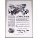 1919 United States Royal Cord Tires Vintage Print Ad - Tip From Tacoma