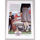1946 The General Tire Brindle Art Vintage Color Print Golf Art Ad