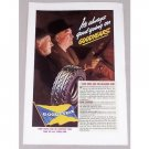 1937 Goodyear Tires Vintage Color Print Ad - It's Always Good Going