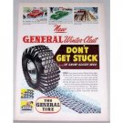 1953 The General Tire Vintage Color Print Ad - Don't Get Stuck