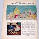 1953 Avon Cosmetics 2 Page Vintage Makeup Art Vintage Color Print Ad