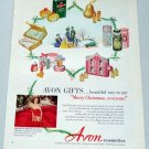1952 Avon Gifts Cosmetics Make Up Vintage Color Print Makeup Ad Celebrity Loretta Young