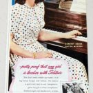 1945 Solitair Cake Make Up Vintage Color Print Ad Dorothy Dodge