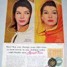 1960 Ponds Angel Face Cosmetic Make Up Vintage Color Print Ad