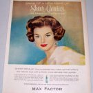 1960 Max Factor Sheer Genius Make Up Vintage Color Print Ad