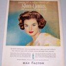 1960 Max Factor Sheer Genius Make Up Vintage Color Print Ad