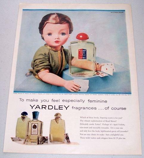 1957 Bond Street Yardley Fragrances Vintage Color Print Ad