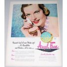 1948 Pond's Angel Face Make Up Vintage Color Print Ad - Society Beauties
