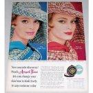 1961 Pond's Angel Face Compact Make Up Vintage Color Print Ad